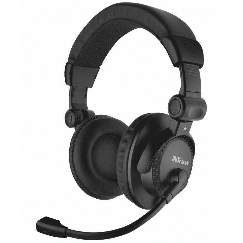 TRUST 21658 Como headset - fekete