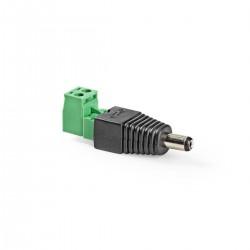 NEDIS CCTV 5.5x2.1mm biztonsági DC dugasz (5db/csomag)