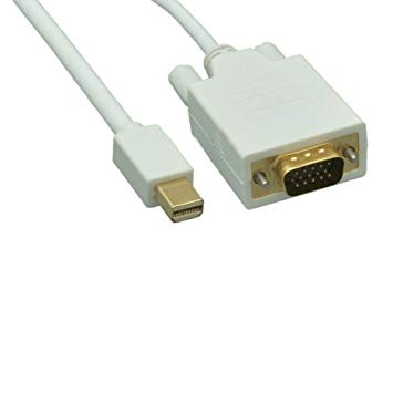 VCOM CG619-1.8 Mini DisplayPort apa - VGA apa kábel 1.8m - fehér