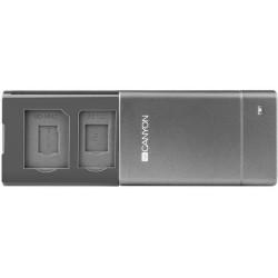 CANYON CNE-CARD2 USB külső kártyaolvasó - szürke