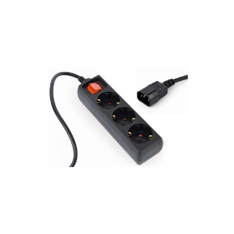 ENERGENIE EG-PSU3-01 UPS hosszabbító - elosztó 0.6m - fekete